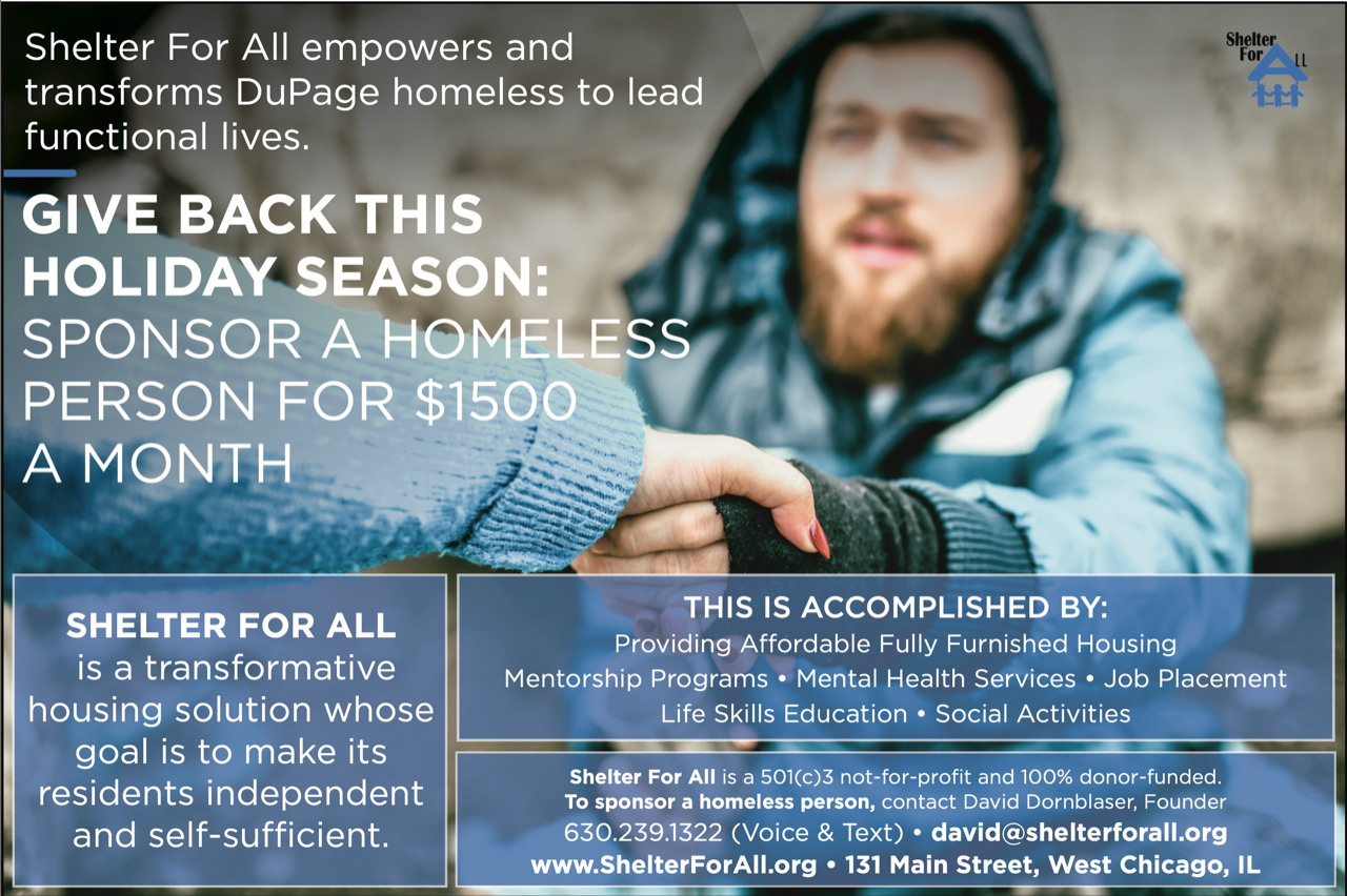 Shelter for All Empowers the Homeless in Dupage County
